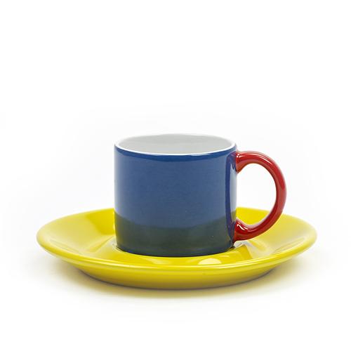 SERAX|Jansen+co ESPRESSO杯盤組-藍黃