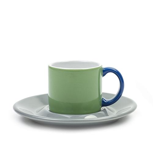 SERAX|Jansen+co ESPRESSO杯盤組-綠灰