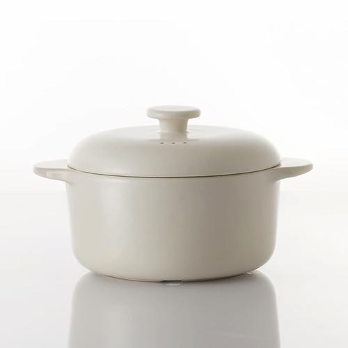JIA Inc. 饗食版 蒸鍋24cm (白色陶鍋)