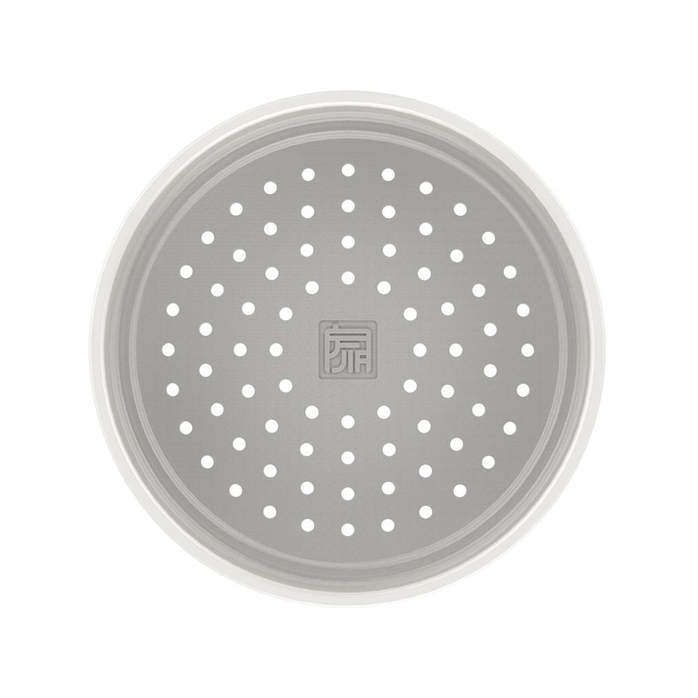 JIA Inc. 饗食版 中溫瓷蒸籠盤24cm (白色)