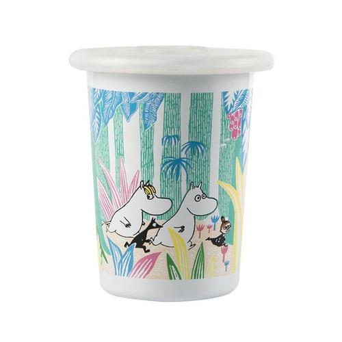 Muurla|嚕嚕米花園探險琺瑯杯500cc(附矽膠杯蓋)