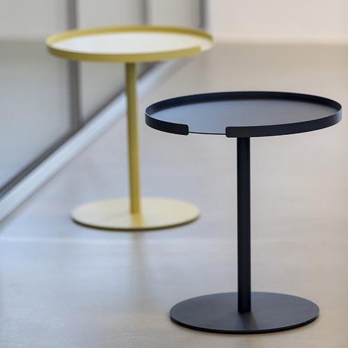 Design Bite|圓形邊桌-午夜藍