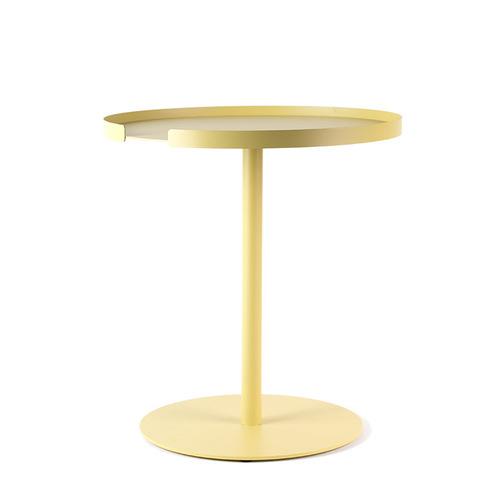 Design Bite|圓形邊桌-檸檬黃