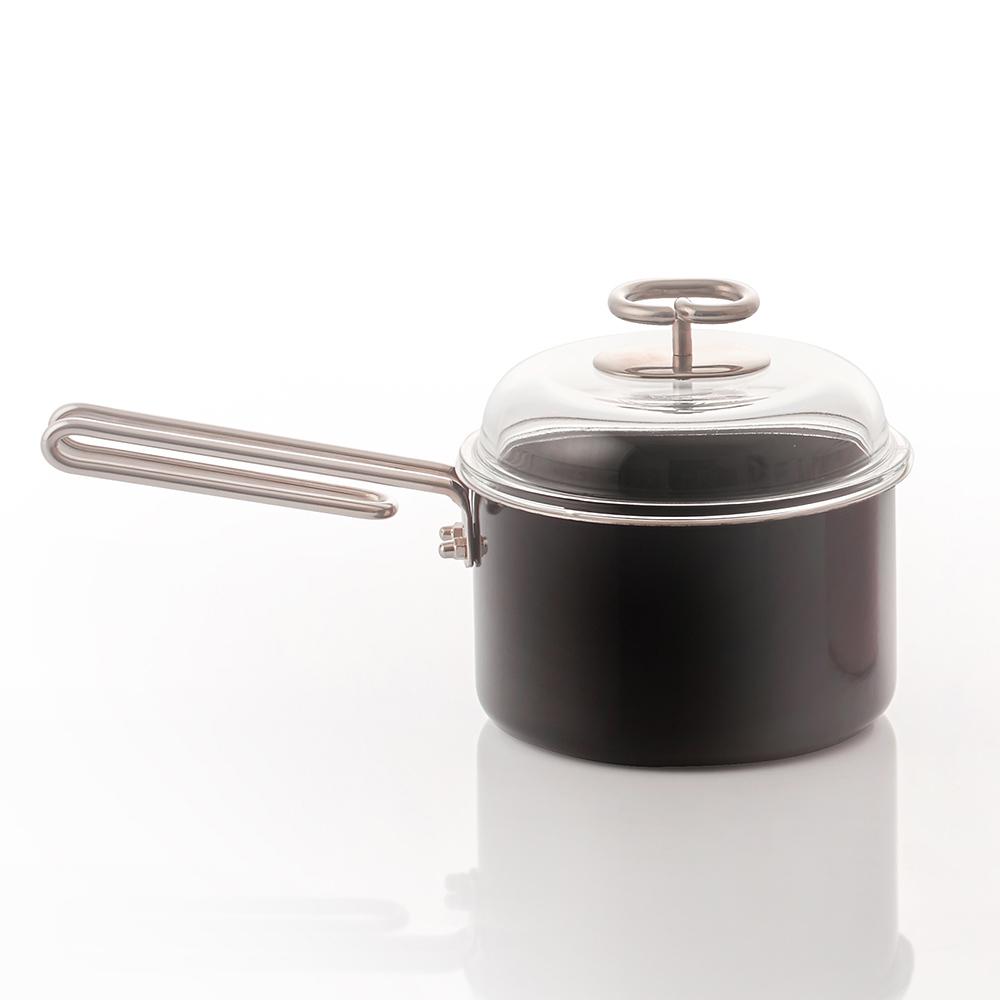 JIA Inc.|虹彩鋼 琺瑯單柄鍋16cm ─ 黑色