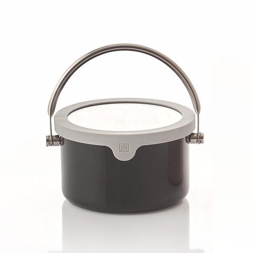JIA Inc.|虹彩鋼 琺瑯提鍋16cm ─ 黑色