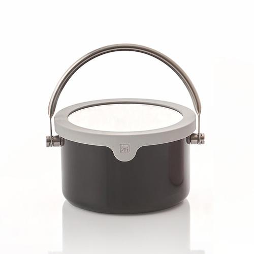JIA 家|虹彩鋼 琺瑯提鍋16cm ─ 黑色