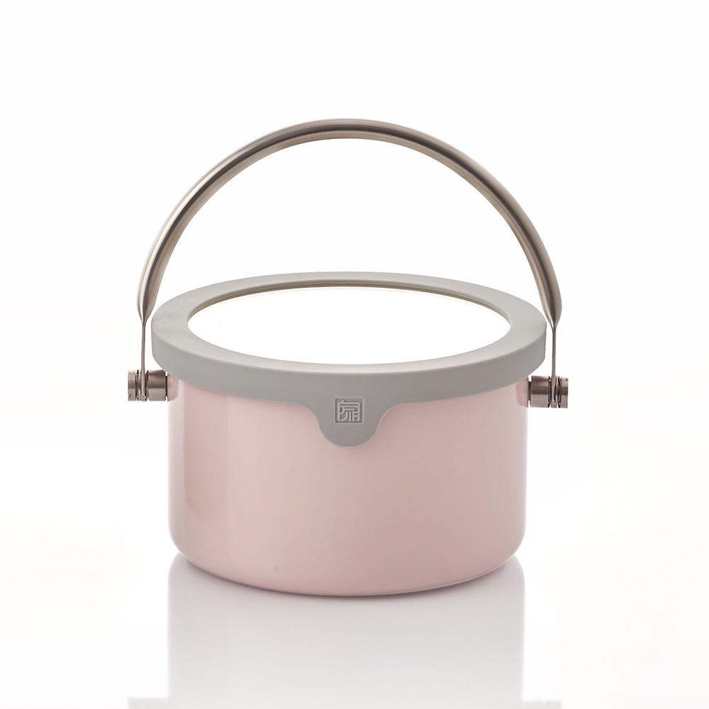 JIA Inc.|虹彩鋼 琺瑯提鍋16cm ─ 粉紅色