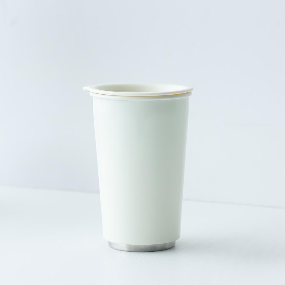 JIA Inc.|虹彩鋼 雙層隨行杯350ml─ 白色