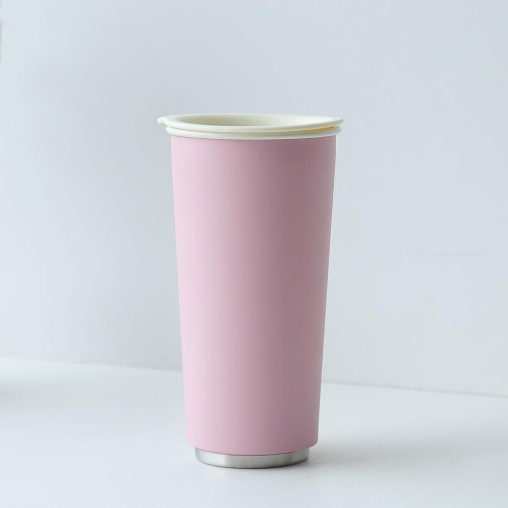 JIA Inc.|虹彩鋼 雙層隨行杯470ml─ 粉紅色