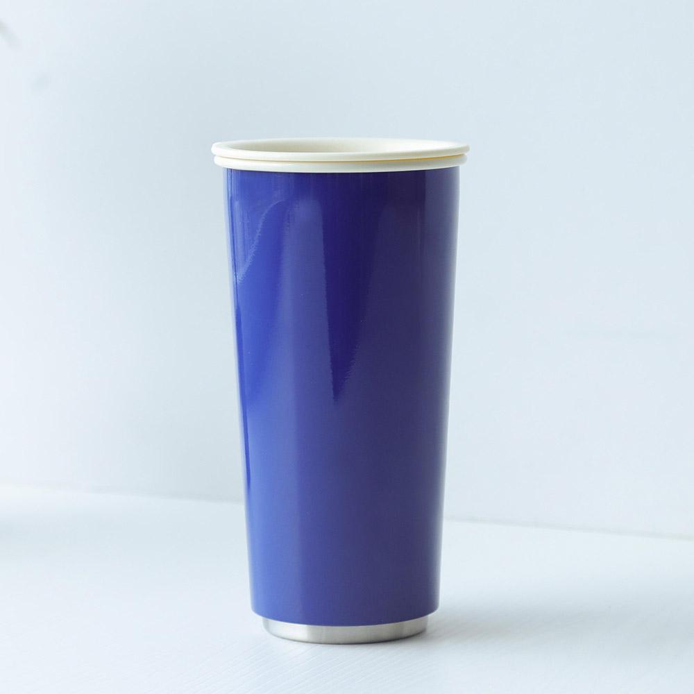 JIA Inc.|虹彩鋼 雙層隨行杯470ml─ 藍色