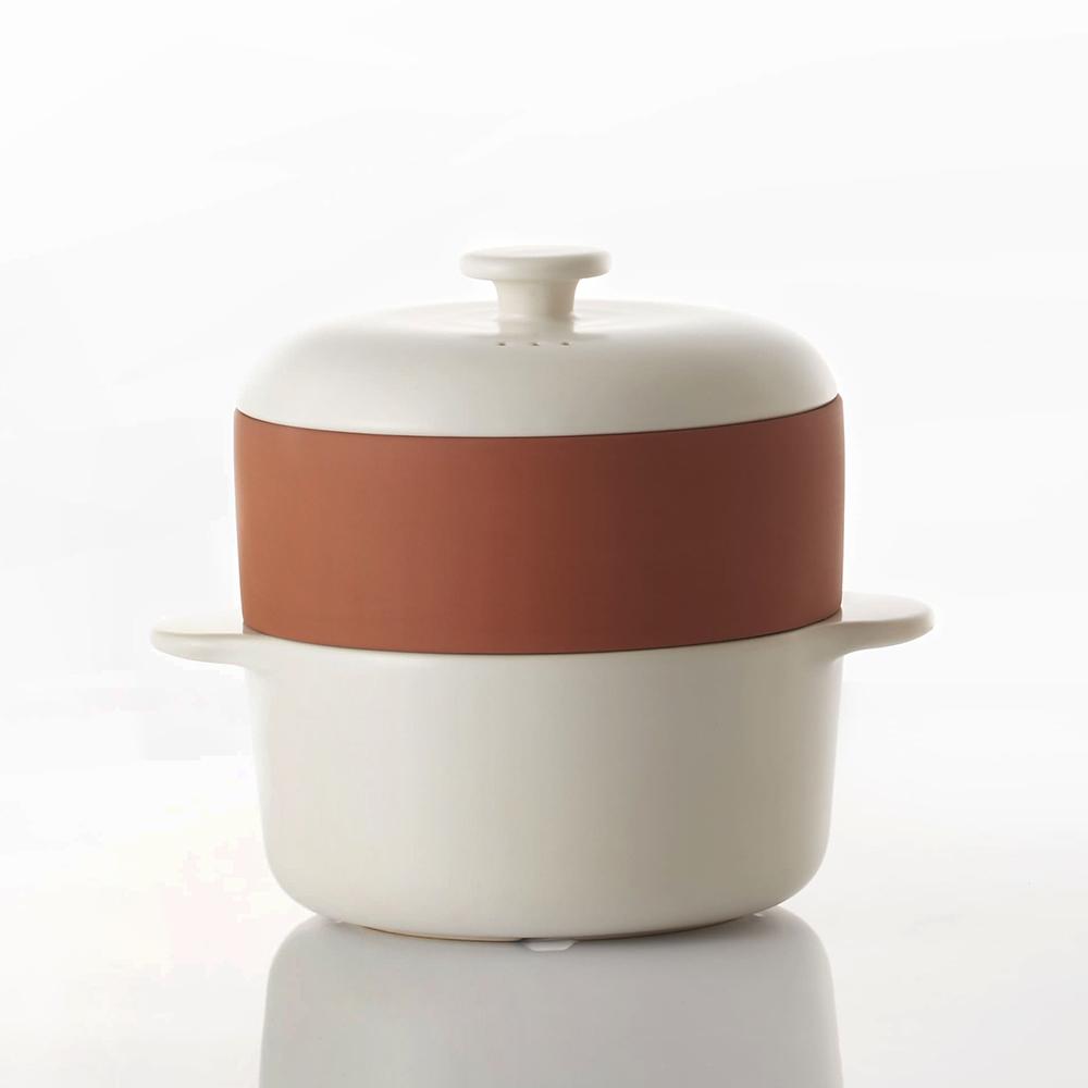 JIA品家|饗食版 蒸鍋蒸籠14cm (Q版白色陶鍋)