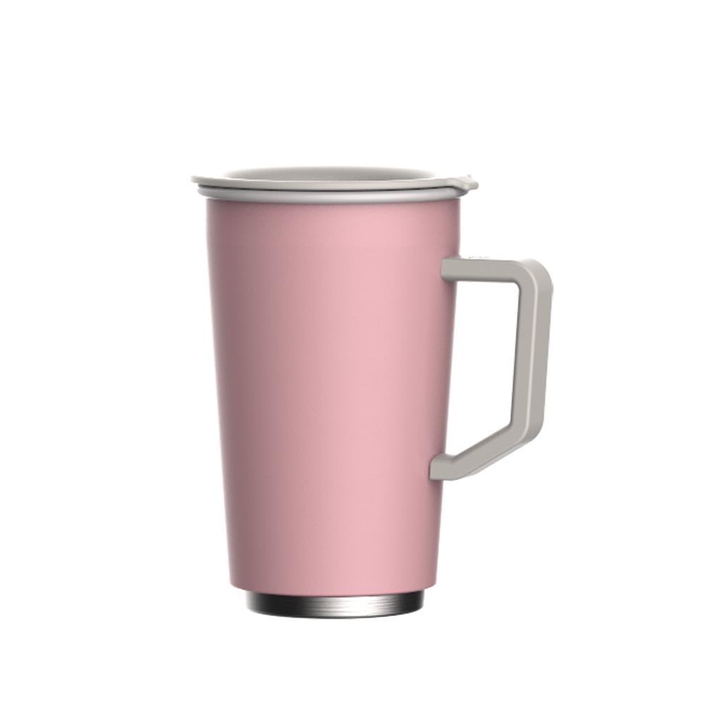 JIA 家 虹彩鋼 琺瑯雙層馬克杯350ml─ 粉紅色