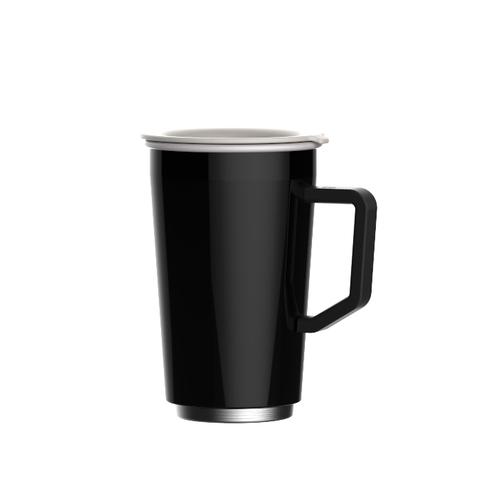 JIA 家|虹彩鋼 琺瑯雙層馬克杯350ml─ 黑色
