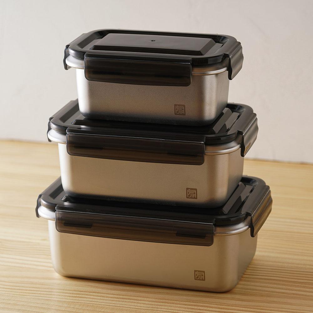 JIA品家 抗菌不鏽鋼保鮮盒─全套三入組