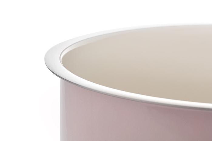 JIA Inc.|虹彩鋼 不鏽鋼琺瑯單柄鍋16cm ─ 粉紅色