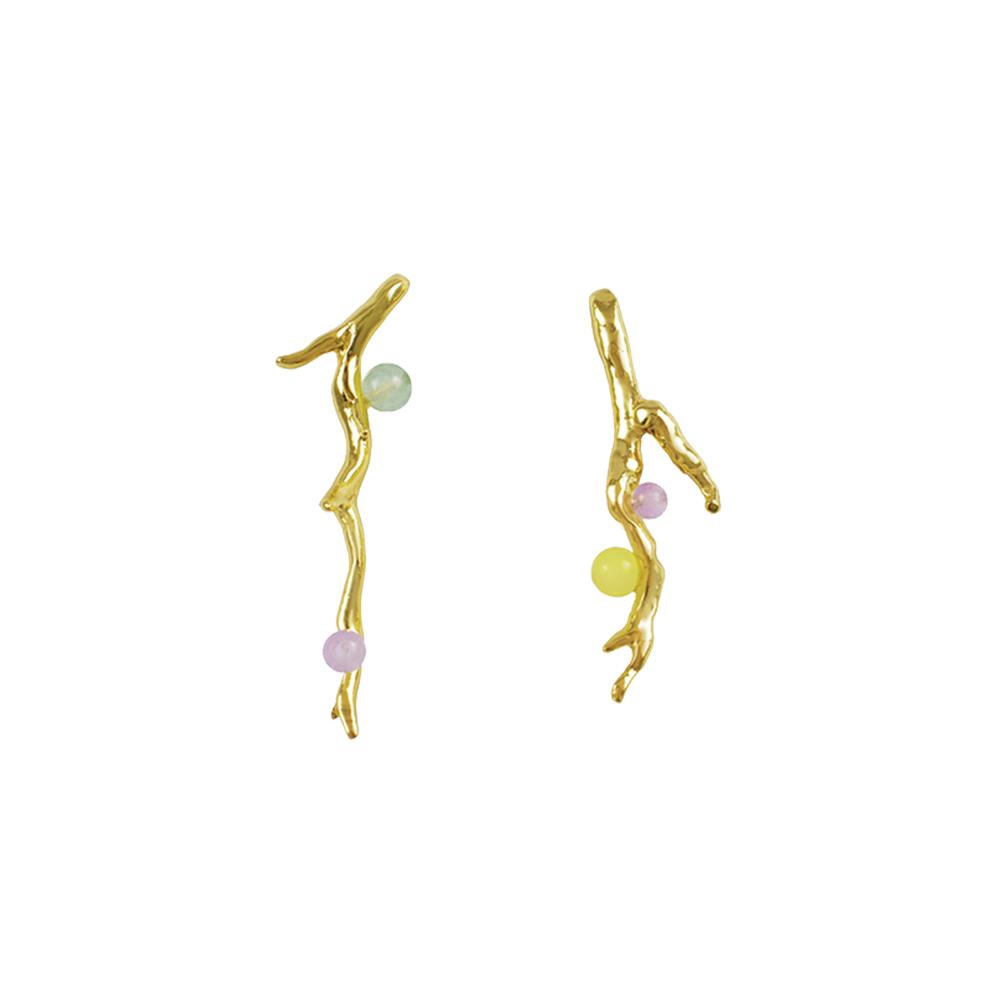 OLIVIA YAO JEWELLERY|LAURIER EARRINGS 金色桂冠耳環