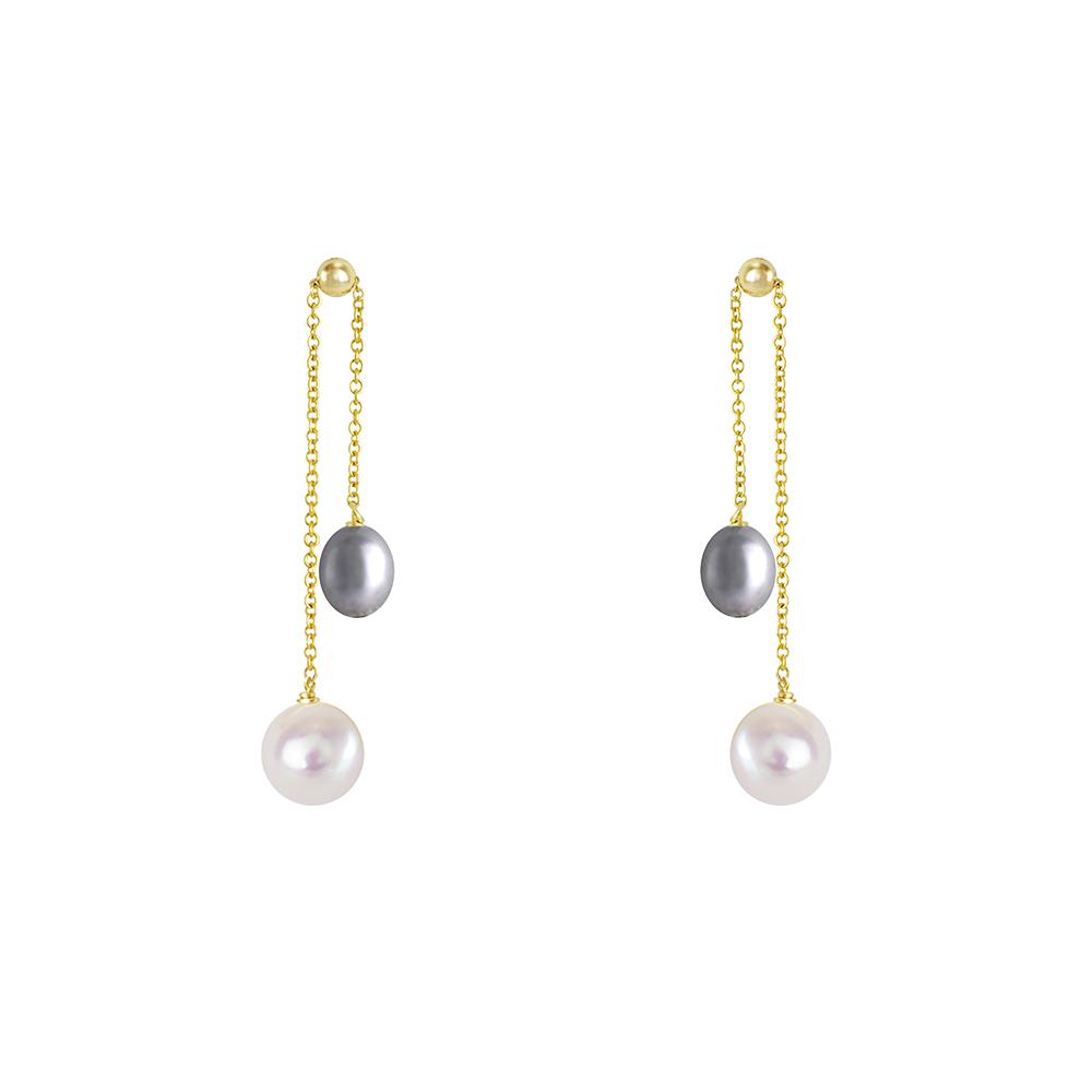 OLIVIA YAO JEWELLERY|PEARL BELL 14K合金紫色珍珠耳環