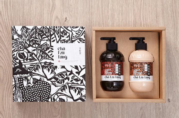 茶籽堂|荷葉禮盒-荷葉保濕沐浴露+乳液