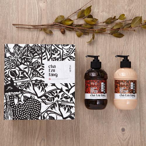 茶籽堂 荷葉禮盒-荷葉保濕沐浴露+乳液
