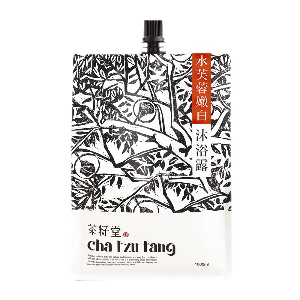 茶籽堂|水芙蓉嫩白沐浴露補充包 1L