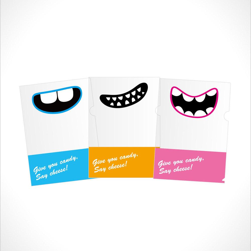 Smile Say Cheese 文件夾(天空藍)