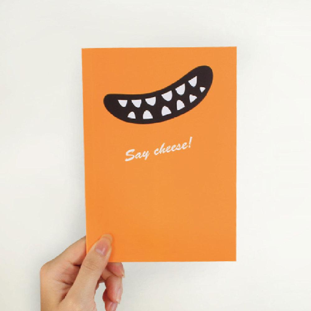 Smile Say Cheese 筆記本(經典橘)
