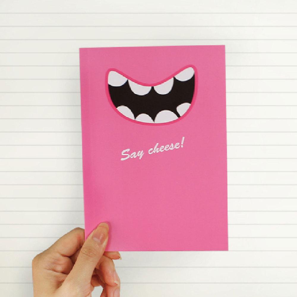 Smile Say Cheese 筆記本(俏麗桃紅)