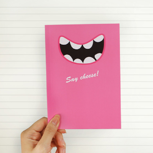 Smile|Say Cheese 筆記本(俏麗桃紅)