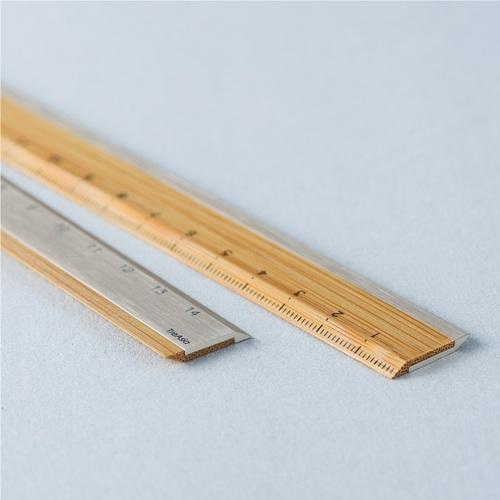 TreAsia︱Bamboo Ruler 竹鋁雙用尺(鈦)
