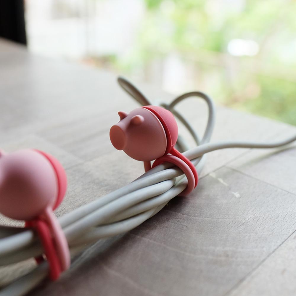 LT|ZOO 動物收線球 - 粉紅豬