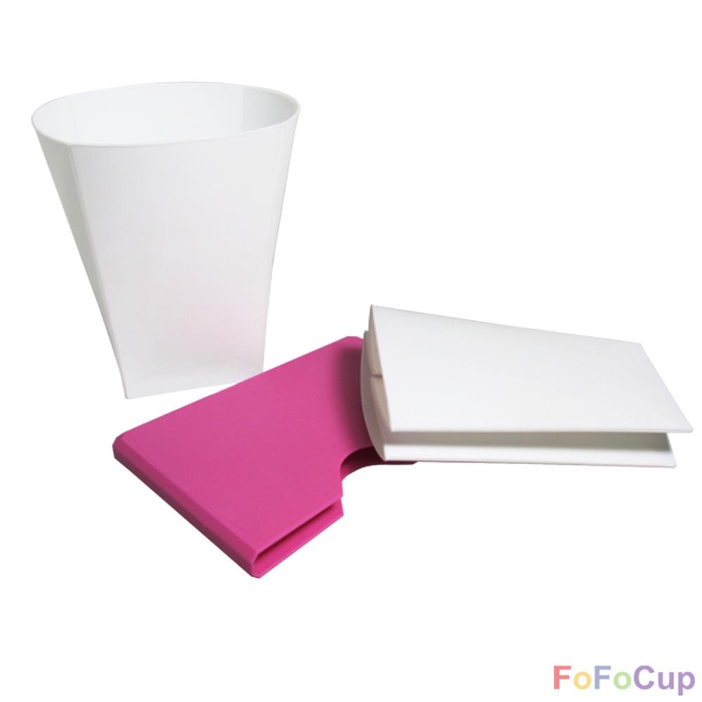 FOFOCUP折折杯|台灣創意杯身可折8oz折折杯-粉色兩入