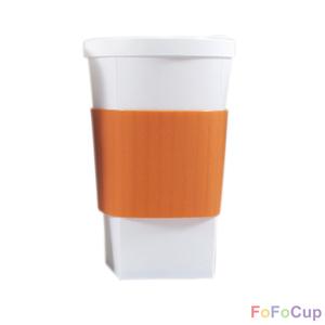 FOFOCUP折折杯|台灣創意杯身可折16oz 折折杯-橘色