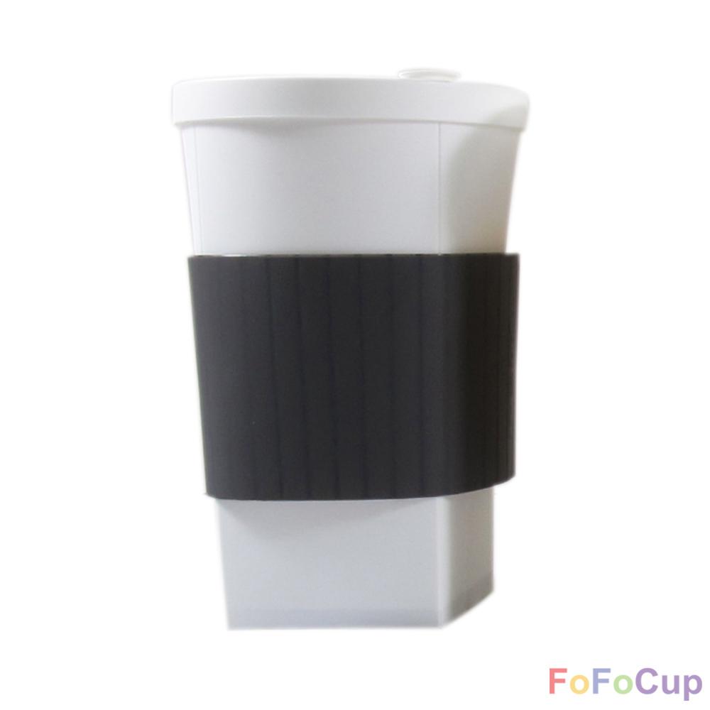 FOFOCUP折折杯 台灣創意杯身可折16oz 折折杯-黑色