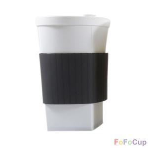 FOFOCUP折折杯|台灣創意杯身可折16oz 折折杯-黑色