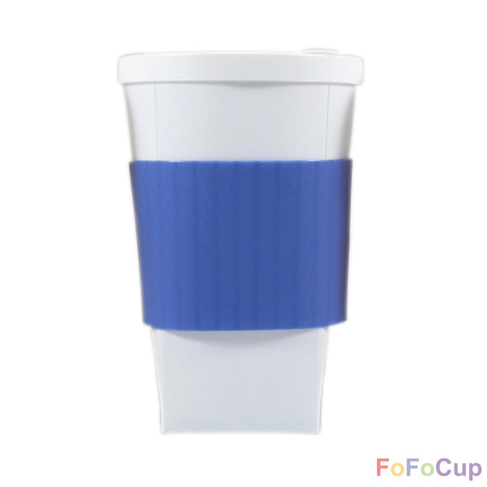FOFOCUP折折杯|台灣創意杯身可折16oz 折折杯-藍色