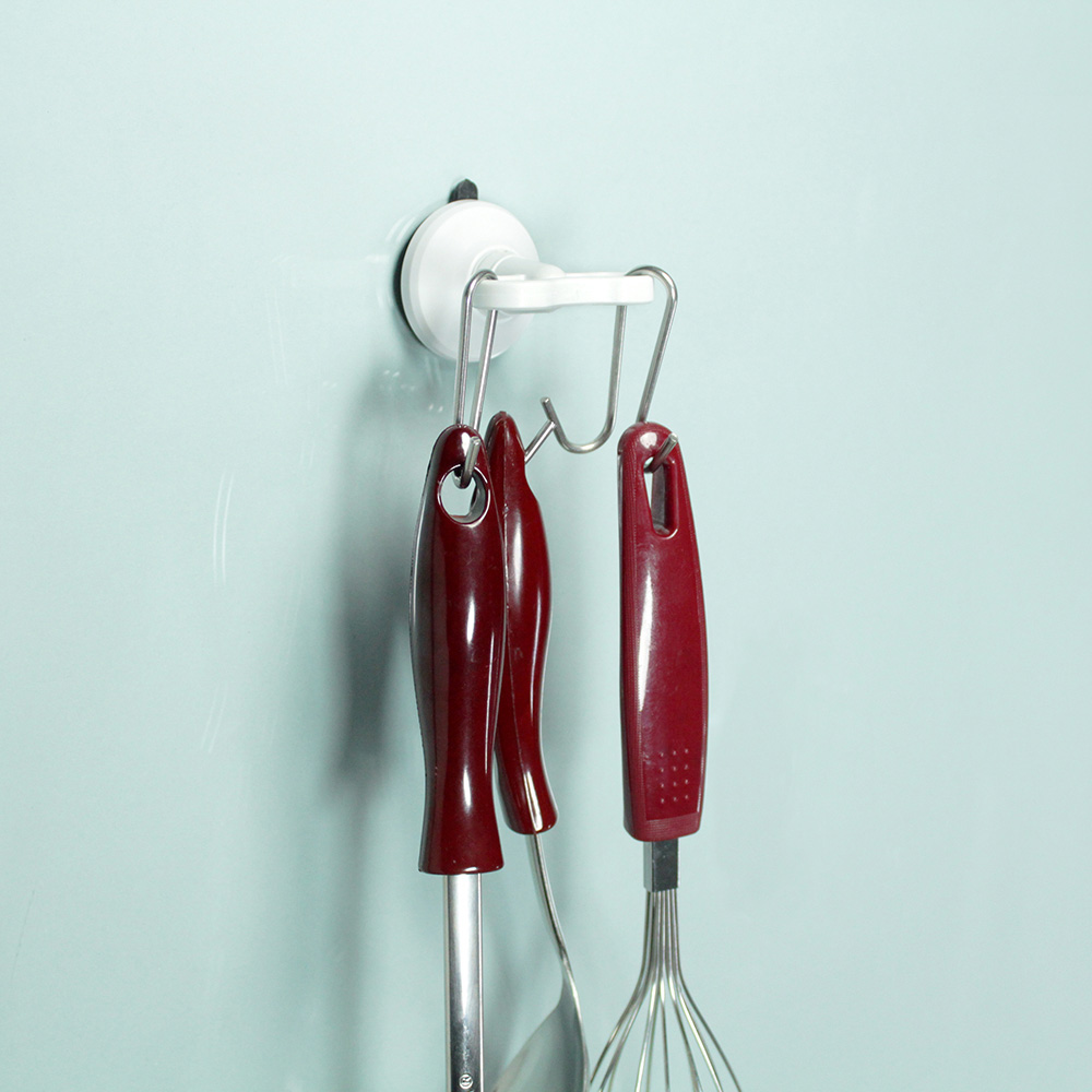 dipper|強力吸盤壁掛(中)-雙掛勾套組