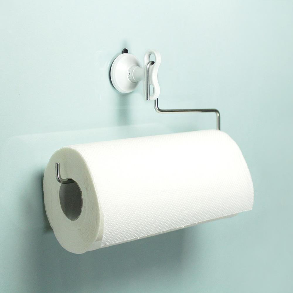 dipper|強力吸盤壁掛(中)-廚房紙巾架套組