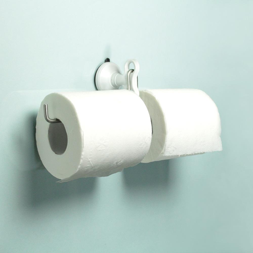 dipper|強力吸盤壁掛(中)-雙筒衛生紙架套組