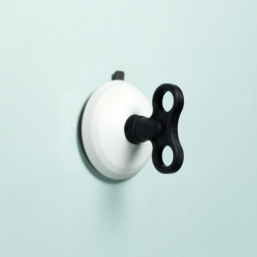 dipper|無痕強力吸盤壁掛(大)-黑白