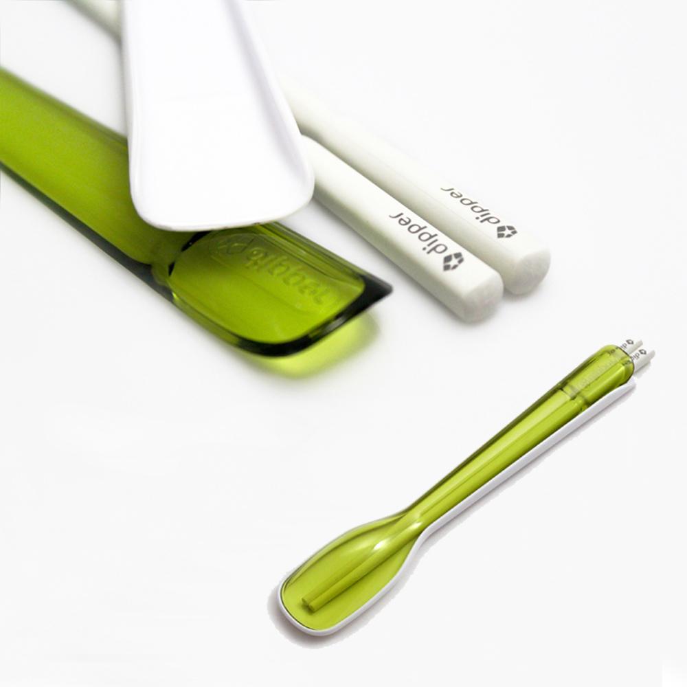 dipper|2合1SPS環保餐具組-青嫩綠