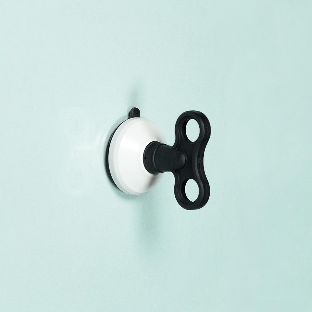 dipper|無痕強力吸盤壁掛(中)-黑白