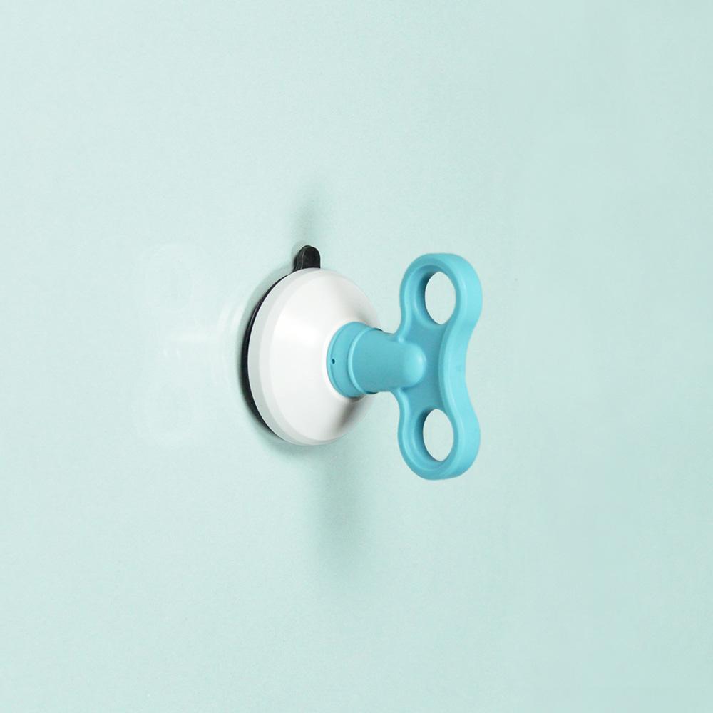 dipper|無痕強力吸盤壁掛(中)-藍
