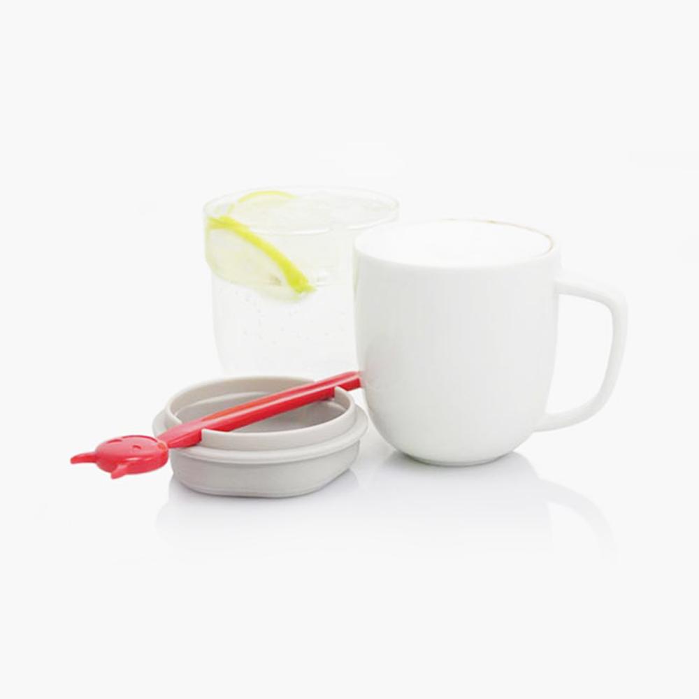 dipper 1+1 紅惡魔雙杯組(馬克杯+玻璃杯+攪拌棒+杯蓋)