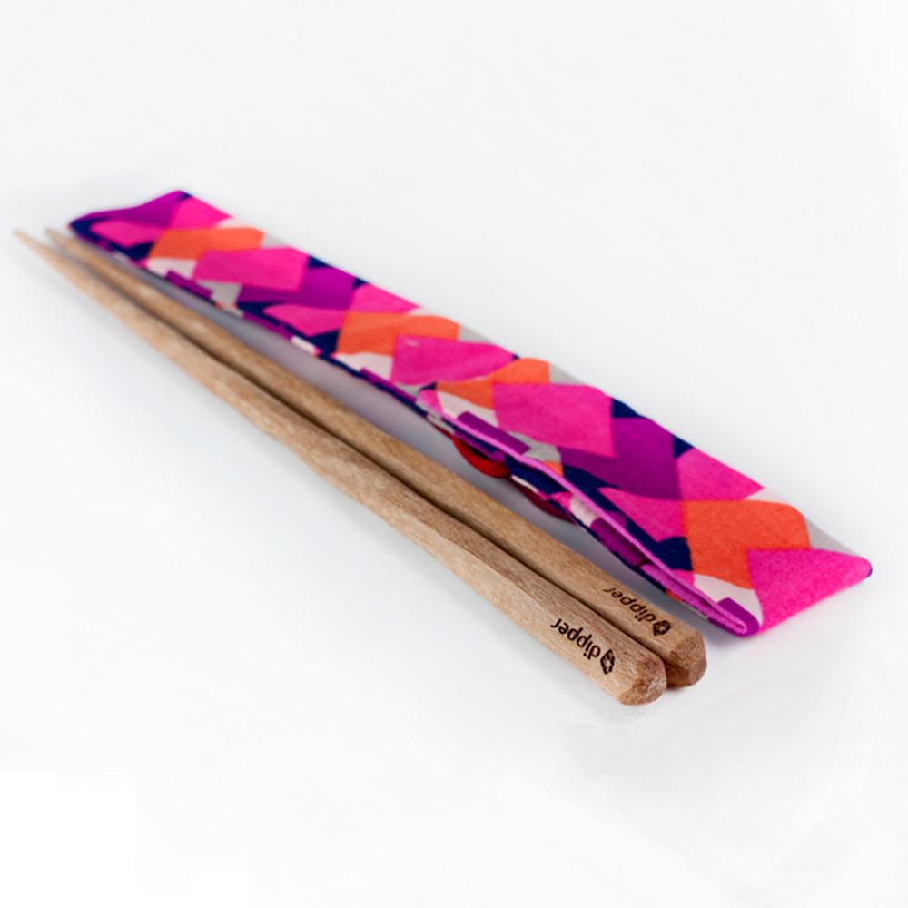 dipper|原植手感紫檀木手工筷-布套環保組