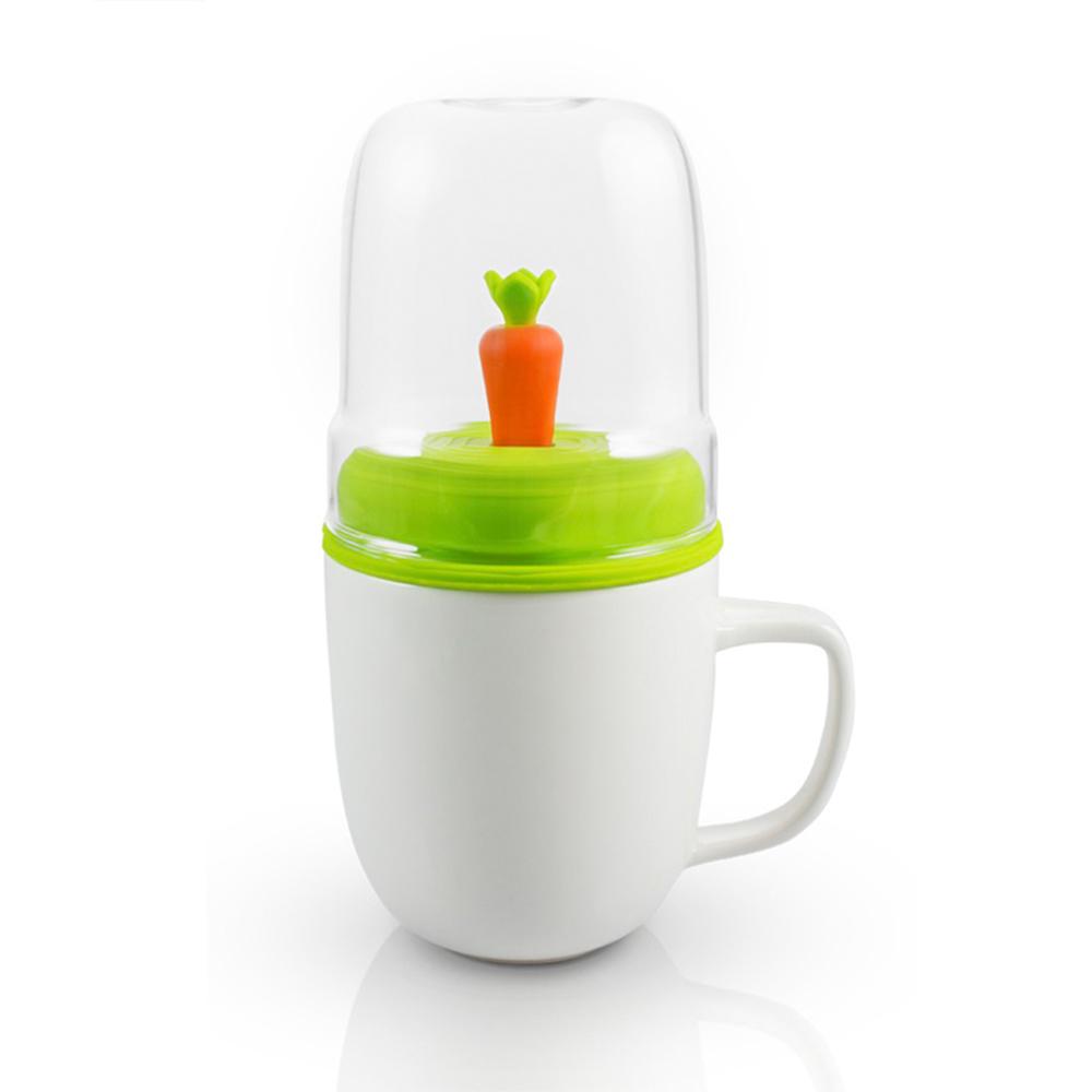 dipper|1+1 胡蘿蔔雙杯組(馬克杯+玻璃杯+攪拌棒+杯蓋)