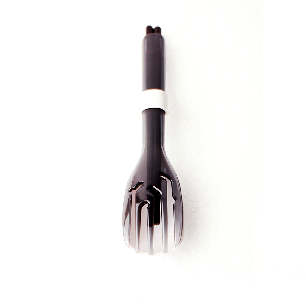 dipper|3合1黑檀木環保餐具筷叉匙組-潑墨黑