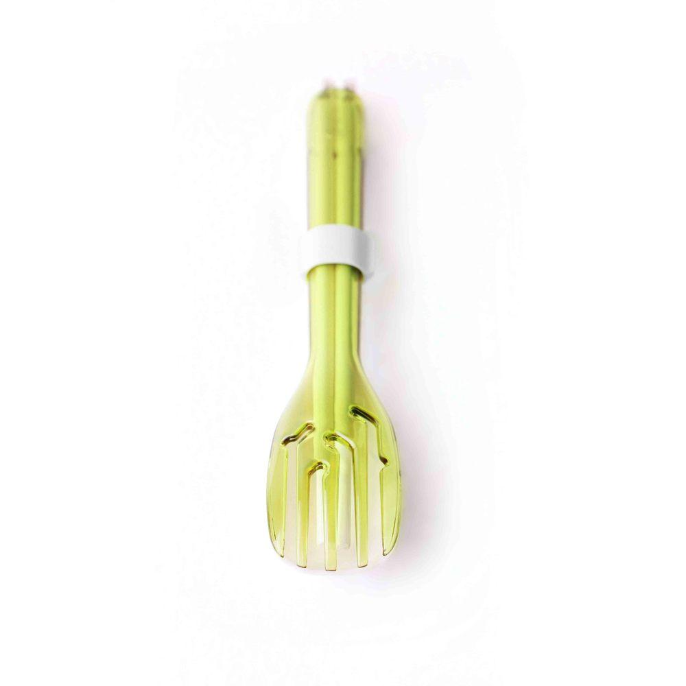 dipper|3合1SPS環保餐具筷叉匙組-青嫩綠叉