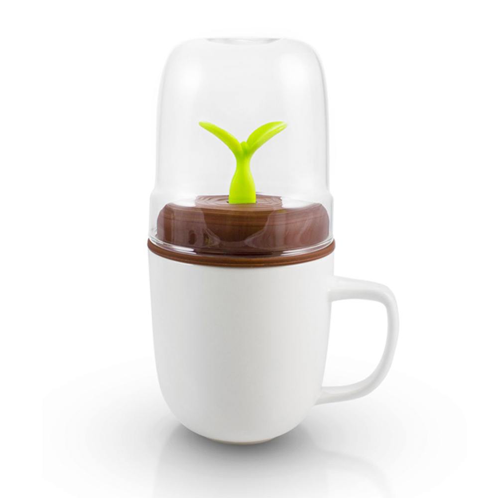 dipper 1+1 綠芽雙杯組(咖啡蓋/白杯)