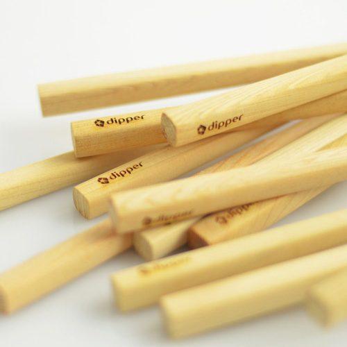 dipper|天然檜木無塗裝筷子-10雙入