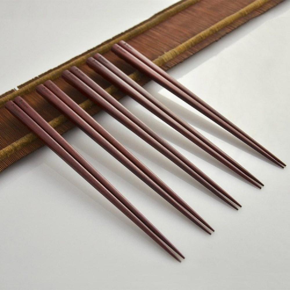 dipper| 天然紫檀木生漆筷子組-5雙入